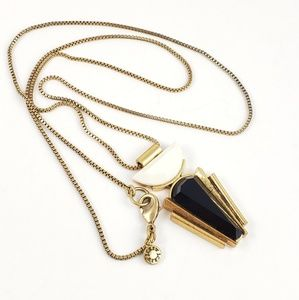 J. Crew Necklace Pendant Art Deco Style